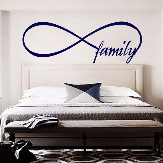 Infinity Symbol Family Wall Decal Bedroom Vinyl Stickers Decals Home Decor Wall Interior Design Art Murals MN818