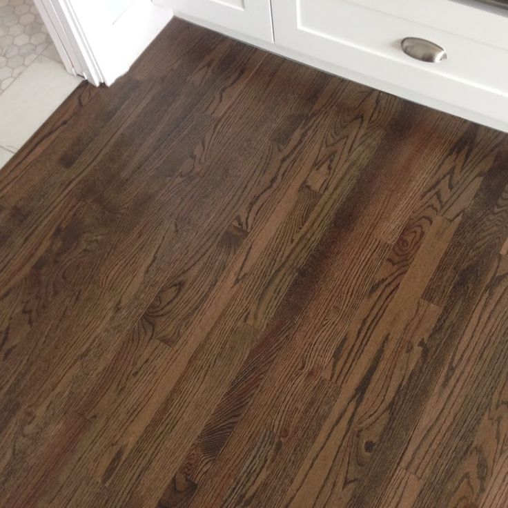 Dark stain on original oak floors hillcrest house for Homes with hardwood floors