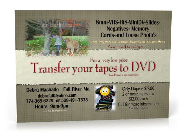 how to get vhs transferred to dvd