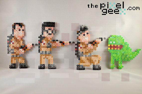 Ghostbusters perler bead pixel art by Pixel Geex