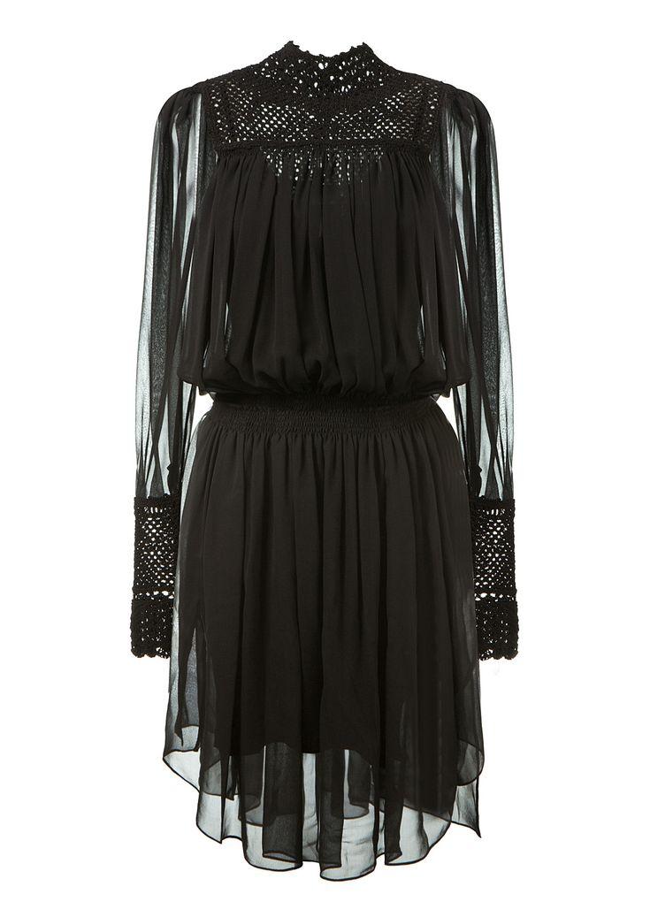 MAGDA BUTRYM Magda Butrym Oviedo Black Silk Dress. #magdabutrym #cloth #