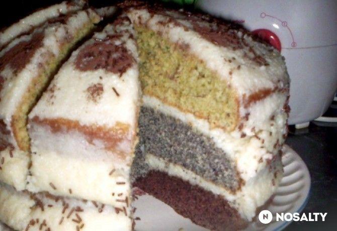 Csíkos sütemény SzAni konyhájából