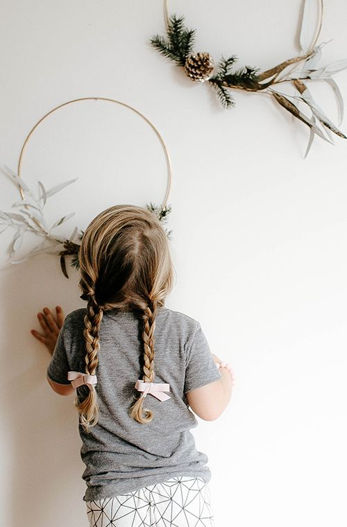 Girl With Braided Pig Tails and Pink Bows  Holiday Lookbook and Gift Guide by @cwandjwblog