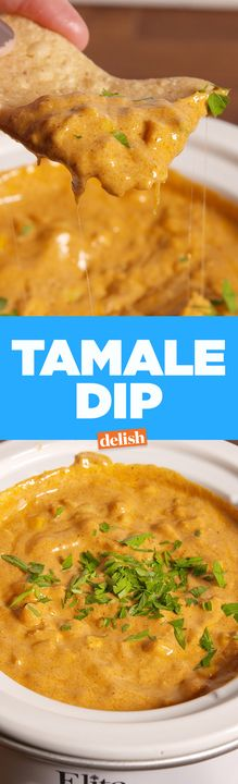 Tamale Dip = instant touchdown. Get the recipe from Delish.com.