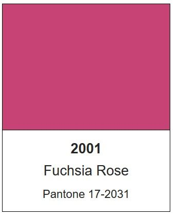 pantones 2001 color of the year fuchsia rose 17 2031