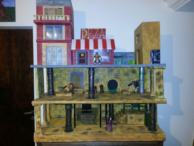 TMNT N.Y. Sawer (Teenage Mutant Ninja Turtles) Custom Diorama / Playset