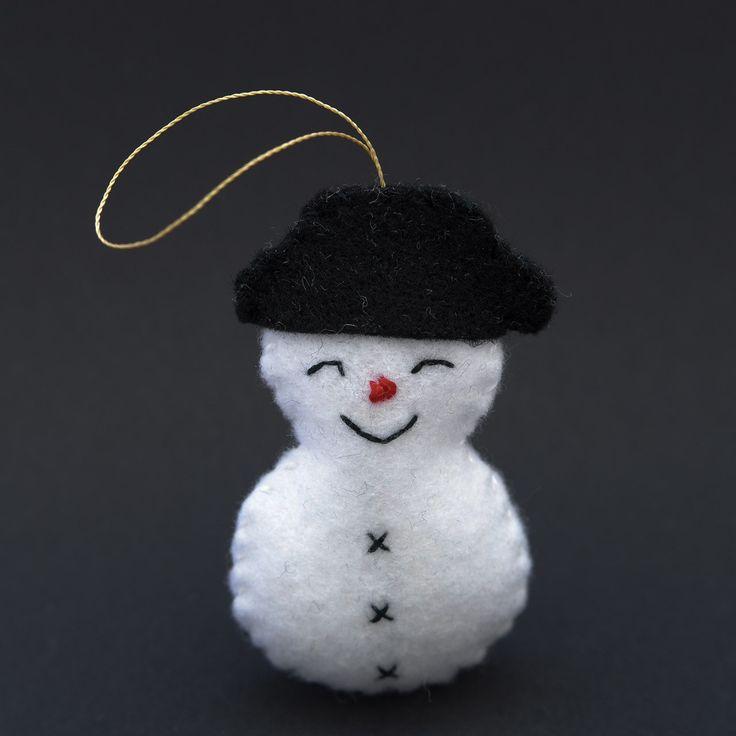 Joyful snowman  - snowman, christmas decor, christmas gift, christmas decoration, cute, adorable. by HalloweenOrChristmas on Etsy