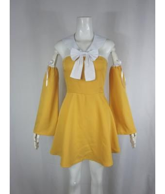 Orange Fairy Tail Levy Mcgarden Cosplay Costume $49.99 - Fairy Tail Cosplay - Cosplay Costume - Trustedeal.com