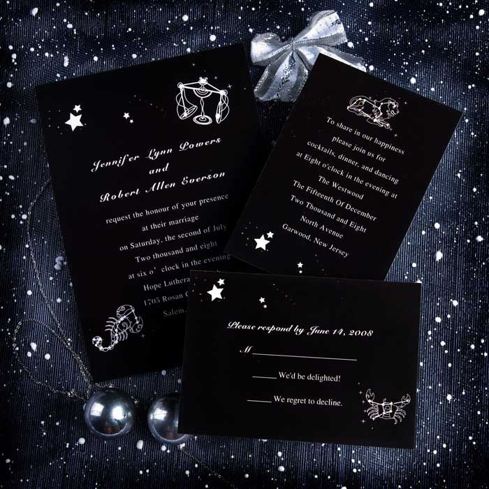 Beautiful Wedding Invitations With Star Pictures