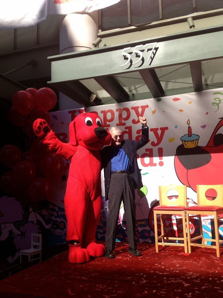 Clifford and his creator, Norman Bridwell! Happy 50 years!: Norman Bridwel, Happy 50, Emily Elizabeth, Red Dogs, 50 Years, Big Red, Cliffordth Big