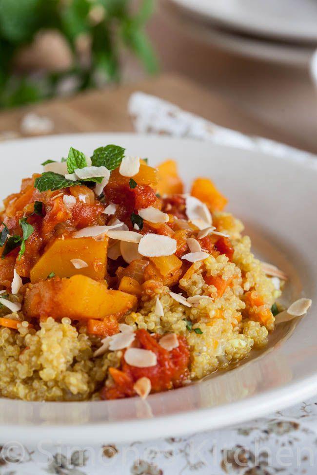 Pompoen wortel stoofpot met quinoa