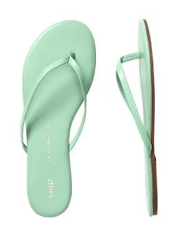 Leather flip flops | Gap I'm a sucker for anything mint green, this color compels me to buy!!