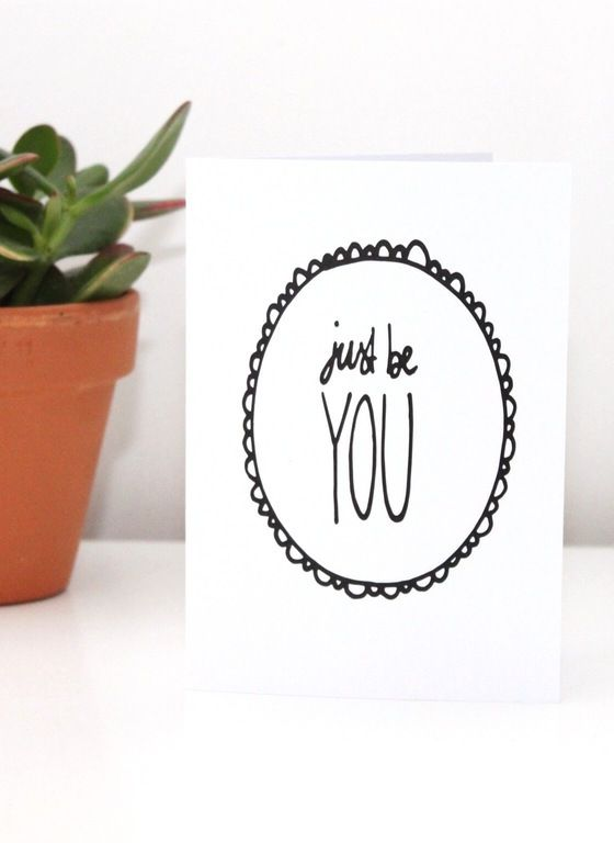 Image of JUST BE YOU Greetings Card