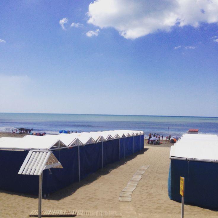 The beach * Argentina * Ostende * Balneario del viejo Hotel. * Verano 2015