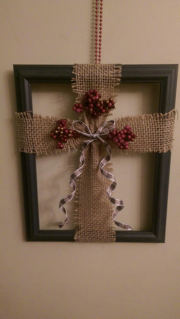 25 Best Ideas About Burlap Cross On Pinterest Picture