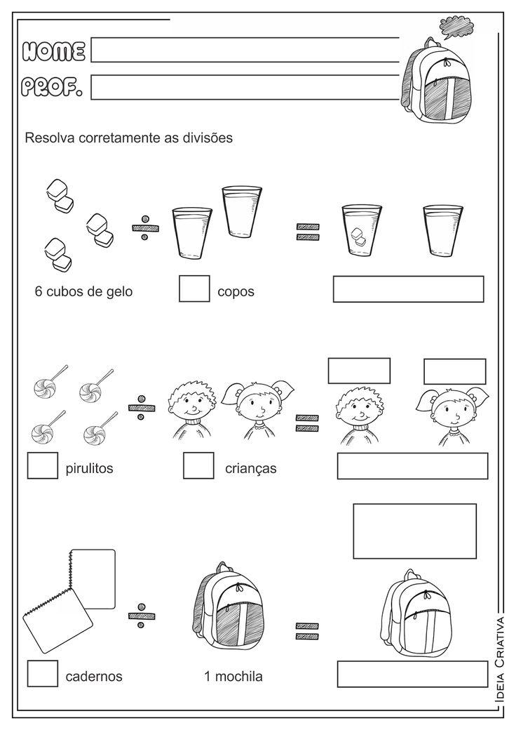 Atividades Educativas Divisão Ilustrada Matemática para Ensino Fundamental