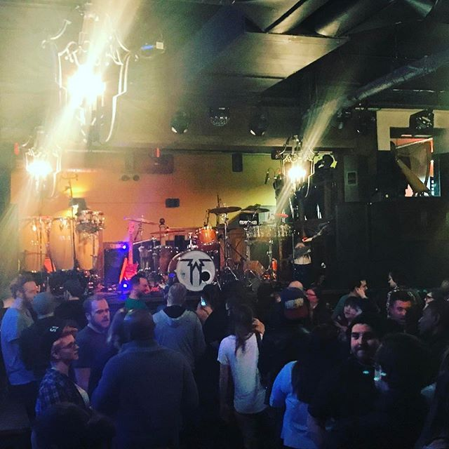 Just a few people out on a Wednesday for @fivealarmfunk. If you aren't here already, you've got about 10 minutes until start time. Let's party!