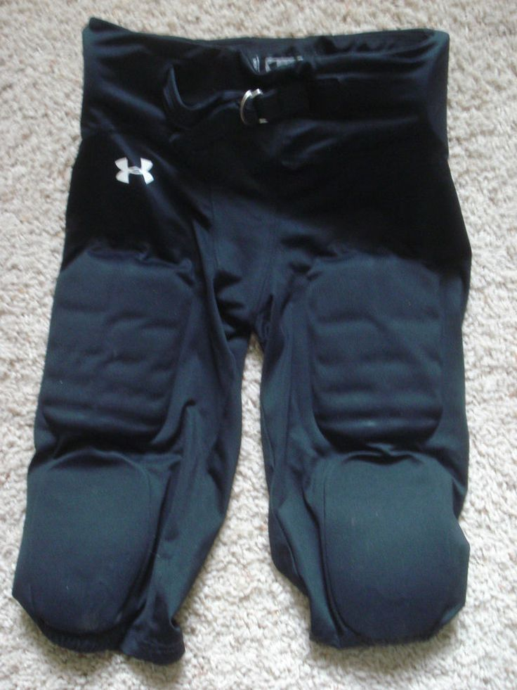 Boys Under Armour Integrated Football Pads Padded Pants YXL Youth X Large Black #UnderArmour
