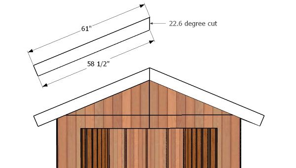 8x14 Gable Shed Roof Free Diy Plans Howtospecialist How To Build Step By Step Diy Plans In 2020 Shed Diy Plans Shed Roof