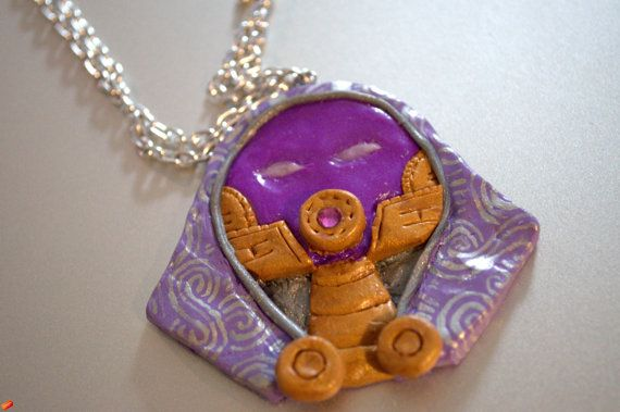 Hand sculpted pendant of Tali'Zorah from Mass Effect. Available in my Etsy shop :)