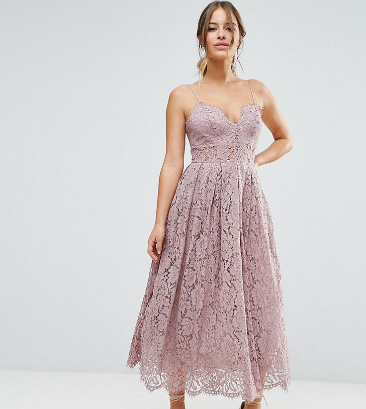 Get this Asos Petite's cotton dress now! Click for more details. Worldwide shipping. ASOS PETITE Lace Cami Midi Prom Dress - Purple: Petite dress by ASOS PETITE, Lined lace, Sweetheart neckline, Spaghetti straps, Scalloped hem, Zip back fastening, Regular fit - true to size, Hand wash, 41% Cotton, 31% Viscose, 28% Polyamide, Our model wears a UK 8/EU 36/US 4. 5�3�/1.60m and under? The London-based design team behind ASOS PETITE take all your fashion faves and cut them down to size. Say go...