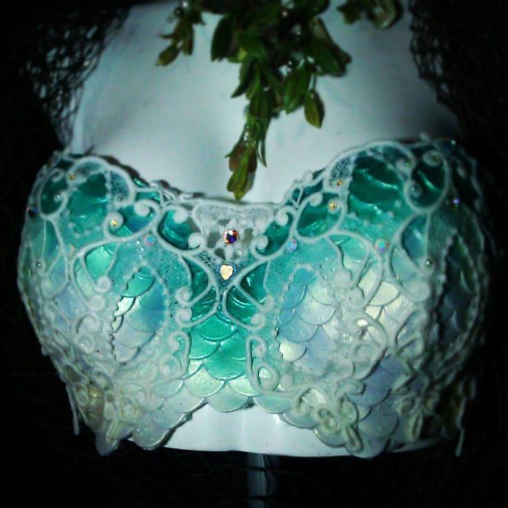 Lace + Silicone Mermaid Top by MerBellas.deviantart.com on @deviantART