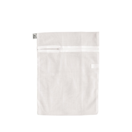 Un săculeţ destinat protejării la spălat textilelor delicate: ciorapi, dresuri, lenjerie intimă, ţesături fine.