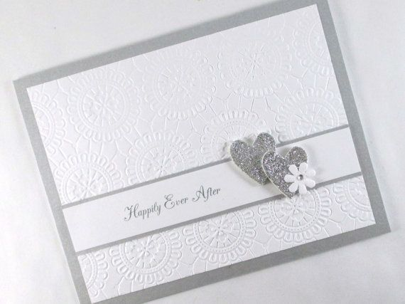 Wedding Card Embossed Day Elegant Hily Ever After