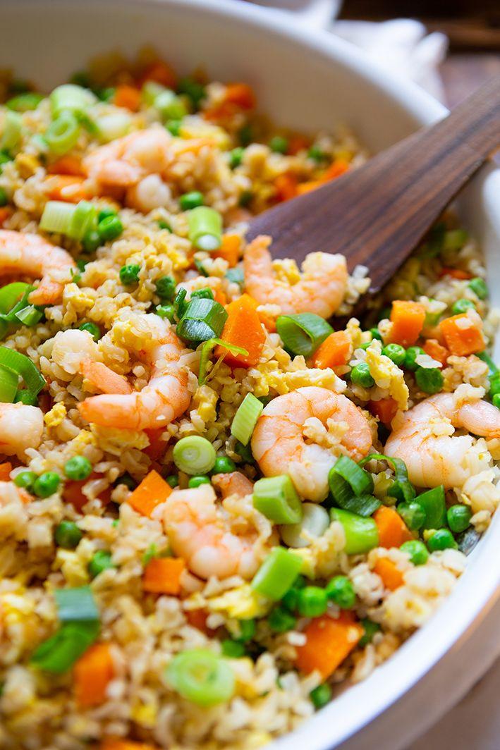 Gebratener Reis mit Garnelen für die After-Work-Küche   – Rezepte: GESUND!!, schnell & einfach! kochen | backen | essen