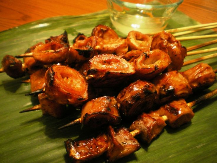 Grilled Isaw or Inihaw na Bituka ng Baboy is pig's large intestine boiled until tender then grilled.