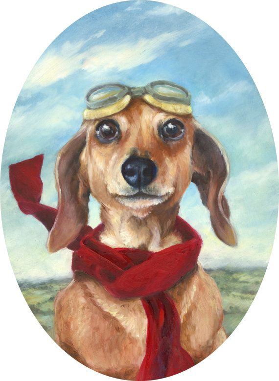 Dachshund Sausage Dog Art Print.