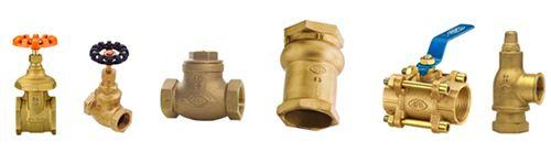 """Os principais tipos de válvulas de bronze são: válvula esfera, válvula gaveta, válvula globo, válvula de alívio e válvula angular, nos diâmetros de ¼"""" a 6"""", com rosca NPT, BSP ou FLANGEADA."""
