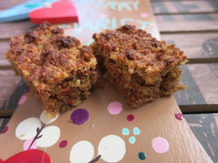 Meine Low Carb Rezepte: Fruchtige Lebkuchen-Schnitten - Weihnachtlich fruchtig lecker