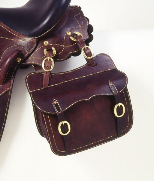 colorful pictures of western saddles | Tough 1 Leather Aussie Saddle Pocket | eBay