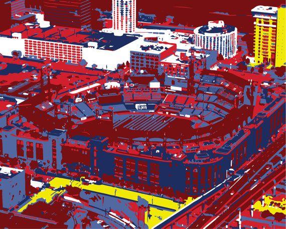 Saint Louis Cardinals art Busch Stadium Print Saint Louis