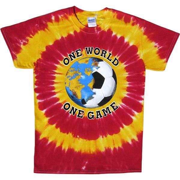 Spain Soccer One World Tie-Dye T-Shirt