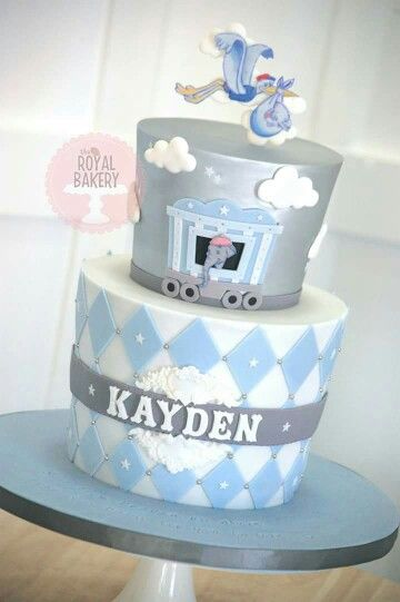 dumbo baby shower baby shower cakes grey baby shower dumbo cake stork
