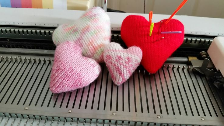 These cute heart designs to machine knit by Diana Sullivan are an excellent exercise on short-rowing. With small amounts of yarn and almost any machine, make...