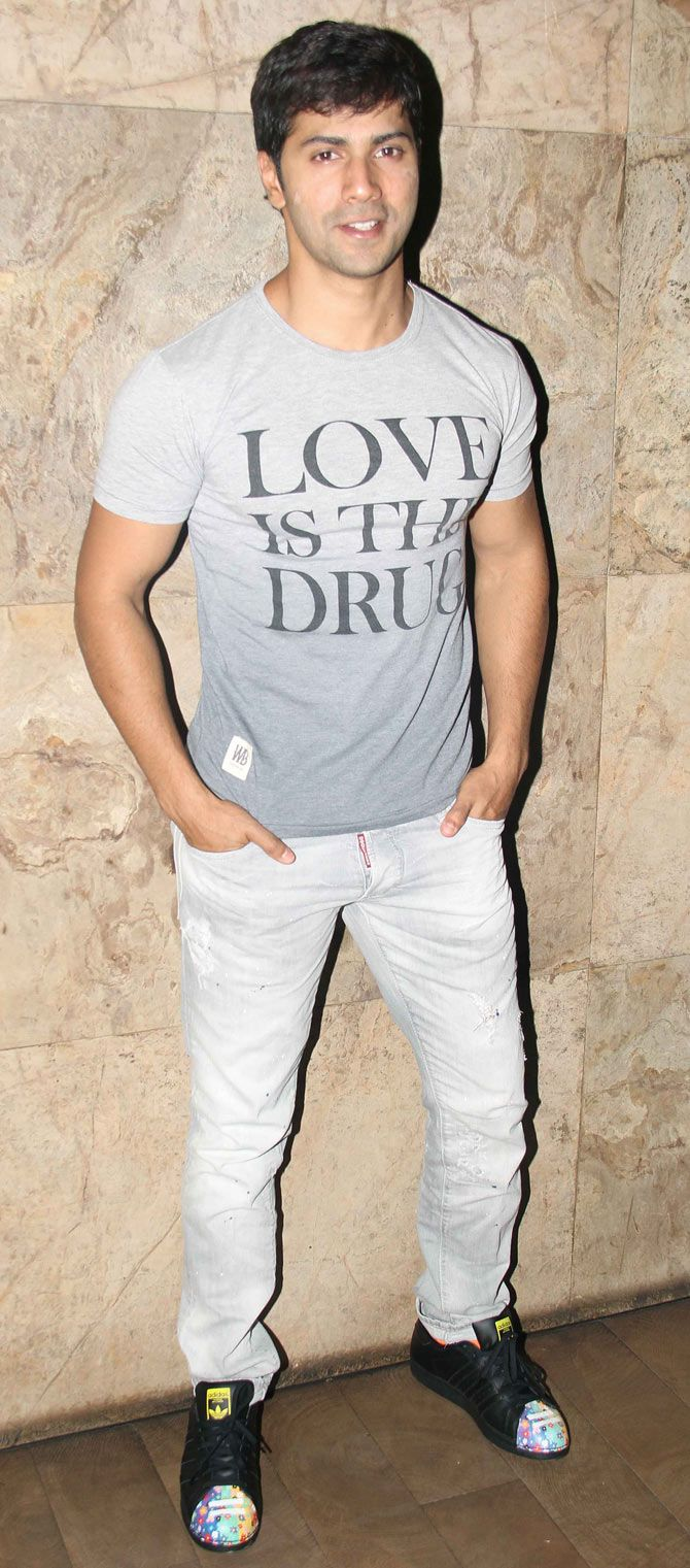 Varun Dhawan at 'Welcome Back' screening. #Bollywood #WelcomeBack #Fashion #Style #Handsome