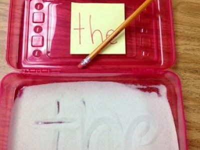 Fun Ways to Practice Sight Words {Sight Words}. Love using the pencil box to hold the salt/sand.
