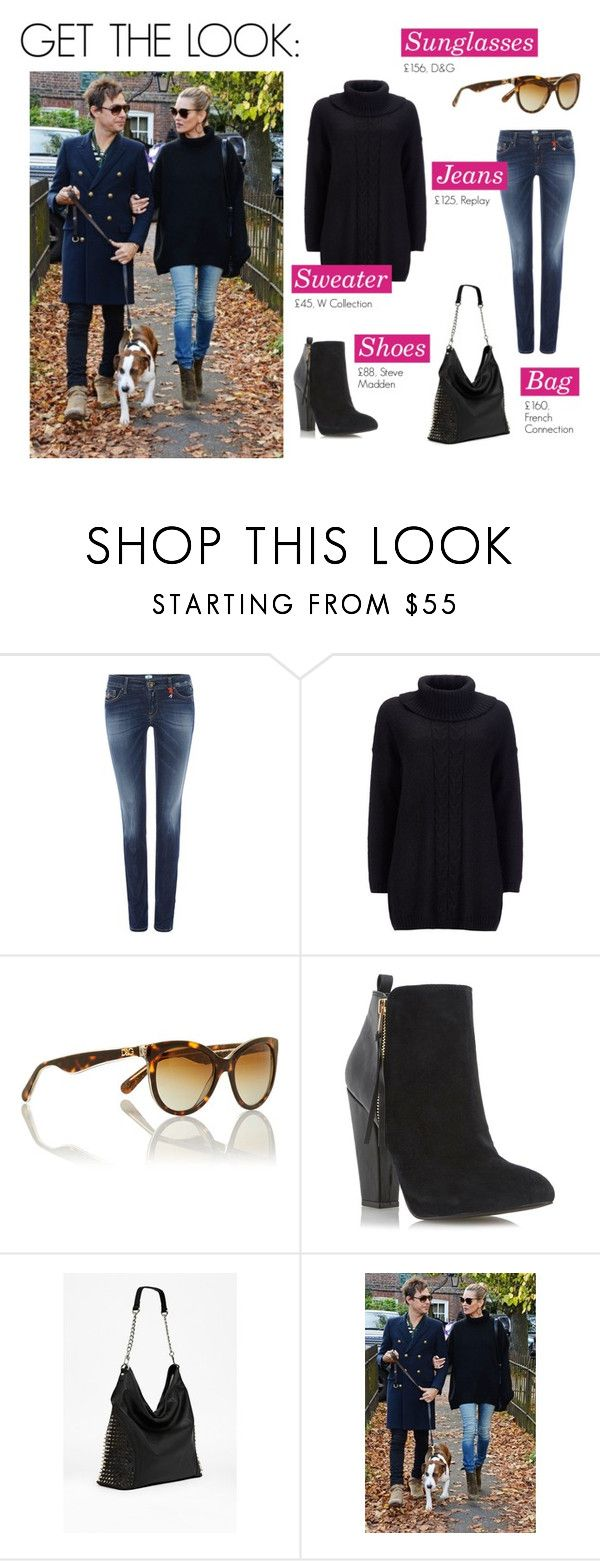 """""""Get the look with House of Fraser"""" by house-of-fraser ❤ liked on Polyvore featuring Replay, W Collection, Dolce&Gabbana, Steve Madden and French Connection"""