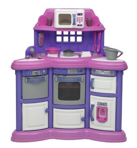 American plastic toys playtime kitchen without light and Realistic play kitchen