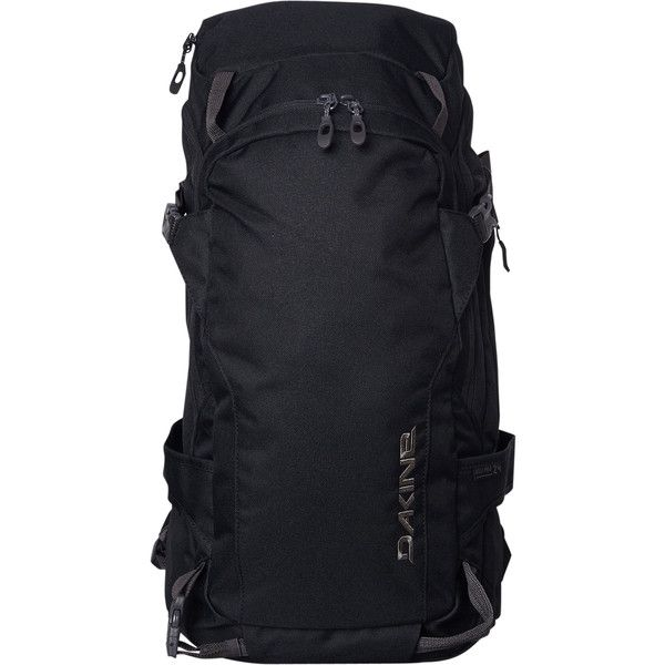 Dakine Heli Pro 24l Backpack Black (170 AUD) ❤ liked on Polyvore featuring men's fashion, men's bags, men's backpacks, accessories, bags, black, men, mens one strap backpack and mens backpack