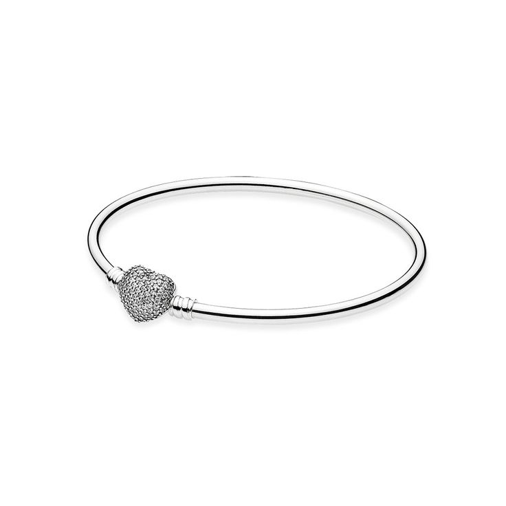 Moments Always in My Heart Silver Bangle, This item comes in the following size ranges, CA$99.98 16% OFF, Buy Now: http://www.pandoracanada2013.com/pandora-bracelets-prices.html