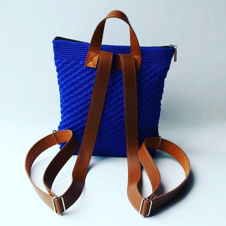 Crochet Shell Stitch Backpack