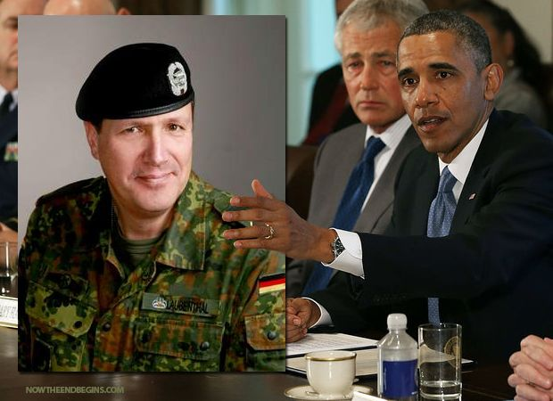 For the first time ever in American history, a foreign commander has been placed in charge of American forces. Obama has authorized German Brig. General Markus Laubenthal to be appointed to the post of Chief of Staff of the US Army Europe. The Army says he could start as early as Monday morning. #Obama #USArmy http://www.nowtheendbegins.com/blog/?p=23883