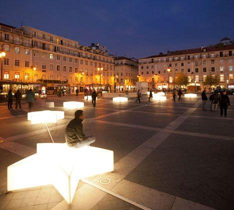 Lisbon Lights Up with Modern Christmas Decorations