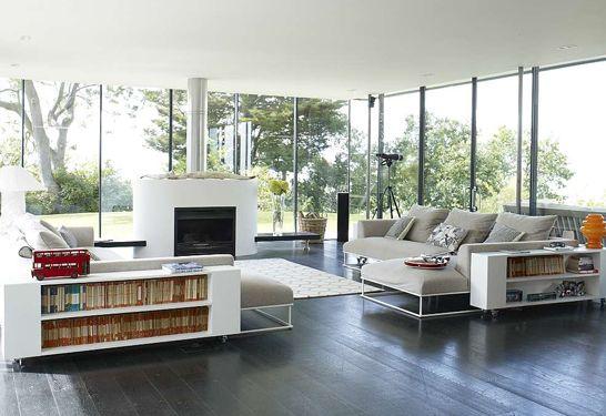 SeaGlass house living area glass windows/walls
