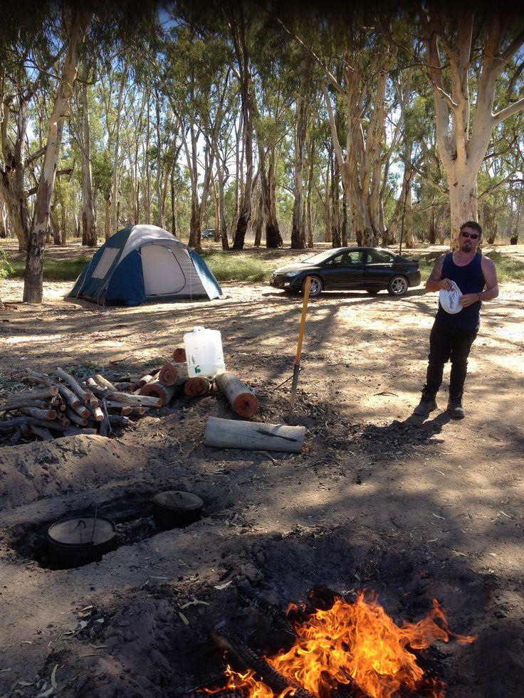 Camp oven Roast dinner. Australia Day 2013. #AustraliaDayOnboard
