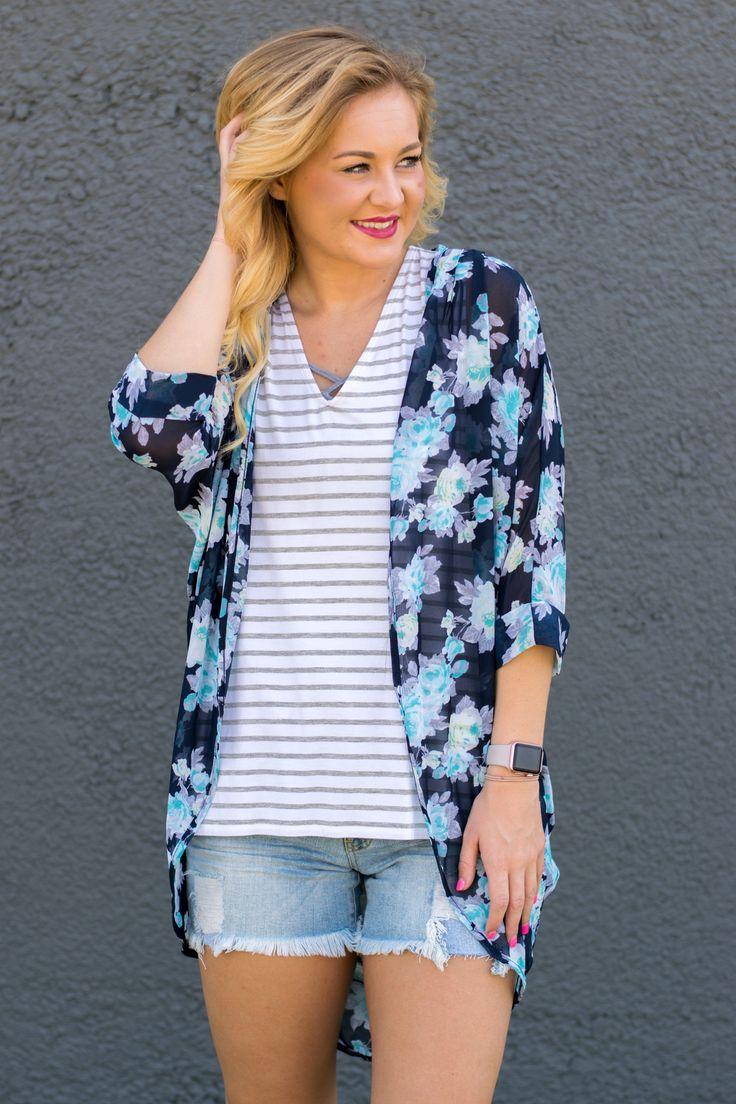 White Wash Lace Paneled Kimono Cardigan | My Style | Pinterest ...
